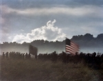 Union troops enter the fray during a reenactment of the Battle of Gettysburg. 2013