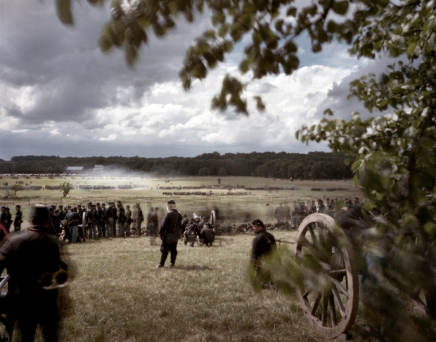 Union guns from Rhode Island watch as the Confederates begin their advance. Gettysburg, Pa 2013