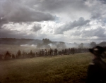 "Union troops line ""Cemetery Ridge"" during a reenactment at Gettysburg, PA 2013."