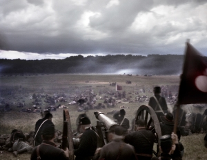 Union artillerists survey the damage after Pickett's Charge.  Gettysburg. 2013