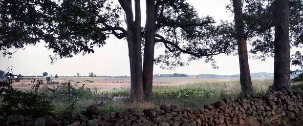 The view from Seminary Ridge to Cemetery Ridge at Gettysburg, Pa. 2013