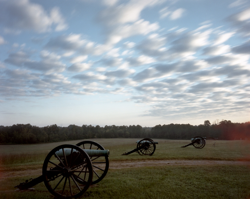 Guns along Snodgrass Hill on the Battlefield at Chickamauga, Ga 2013.