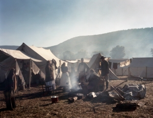 Reenactors camp in Georgia's historic McLemore's Cove. 2013.