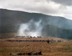 """Union guns on """"Snodgrass Hill"""" during a reenactment of the Battle of Chickamauga, Ga 2013."""