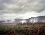 Gun smoke boils up i9n McLemore's Cove during a reenactment of the Battle of Chickamauga, Ga 2013.
