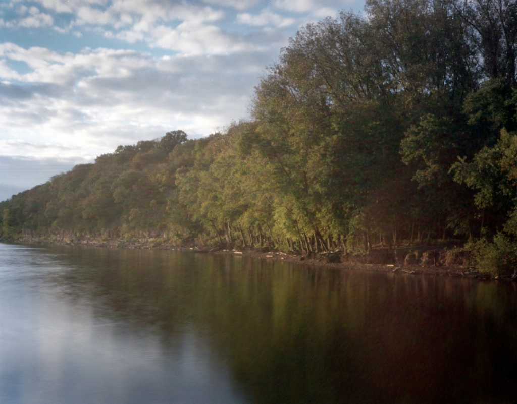 The Cumberland River at Fort Defiance Clarksville Tennessee, 2013.