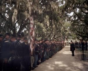 Reenactment at Boone Hall Plantation