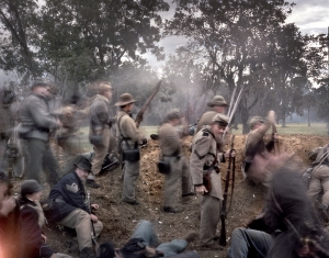 "Confederate reenactors defend ""Fort Wagner"" at Boone Hall Plantation, SC 2013"