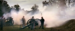 "Cannons fire during a reenactment of the ""Battle of Fort Wagner"" at Boone Hall Plantation, SC 2013"