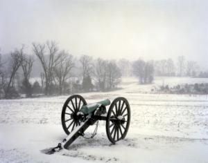 Confederate guns on Seminary Ridge