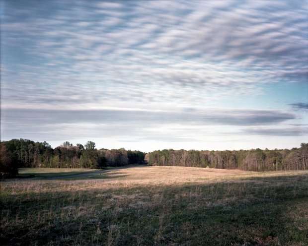 Saunder's Field from the Confederate trenches looking toward the Union approach on May 5th 1864