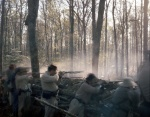 Confederates defend trenches in Mosley, Virginia 2014