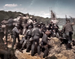 The battle devolves into a hand-to-hand struggle for the Confederate earthworks in Spotsylvania