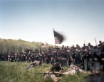 Union troops take the Mule Shoe during a 150th anniversary reenactment of the Battle of Spotsylvania Courthouse 2014