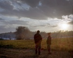 Sun set over the Union encampment in Spotsylvania County Virginia 2014