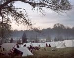 Reenactors camp in Spotsylvania County, Va 2014