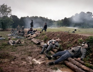 Reenactors commemorate the carnage of 150 years ago at Resaca, Ga 2014