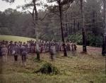 Confederate reenactors form up on the Battlefield at Resaca, Ga 2014