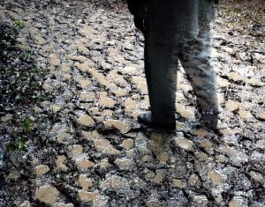 Boots prints in the mud at Resaca, Ga 2014