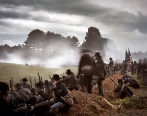 Union reenactors in 2014 commemorate the 150th anniversary of the Battle of  Resaca, Georgia