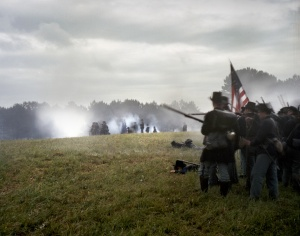 Union reenactors at Resaca, Ga 2014