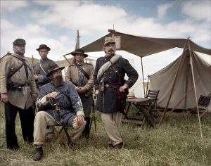 Reenactors of the 1st Virginia Regiment in Spotsylvania, Va