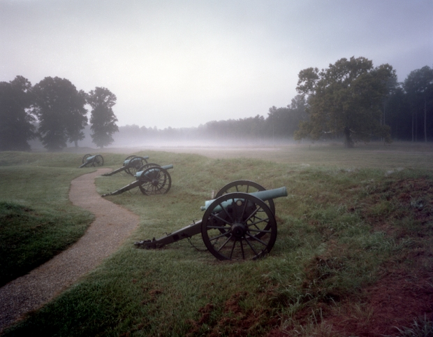 Morning fog at Fort Stedman on the Petersburg Battlefield, Va 2014