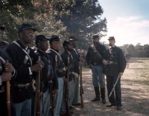 Reenactors in Henrico Virginia commemorate the role of the United States Colored Troops in the battles for Petersburg