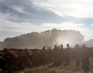 Confederate reenactors defend earthworks in Henrico, Va 2014