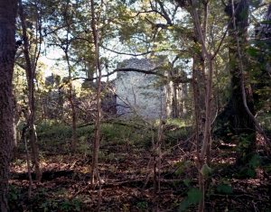 The ruins of the Stickley Mill over Cedar Creek burned by Union troops in 1864