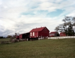 Red truck and farm buildings in Middletown, Va 2014