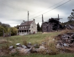 Generations of residential ruins near the Shenandoah River in Fisher's Hill, Va