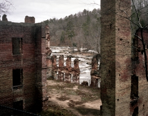 The remains of Manchester Mills on Sweetwater Creek burned by Union troops in 1864