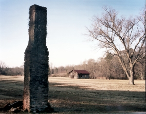 150 year old evidence of Sherman's March to the Sea. Chimney and hearth in Bostwick, Ga -2014