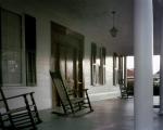 Front porch of the Brown House in Sandersville, Ga
