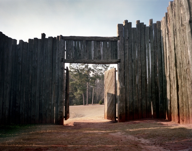 The North Gate at Andersonville Prison in 2014. 150 years ago 45,000 Union soldiers would pass through the prison gates - 13,000 of them would never leave the place