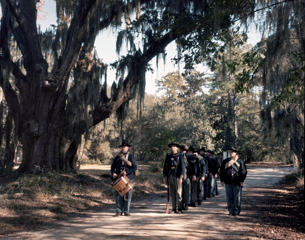 Union troops on the march in Richmond Hill, Georgia 2014