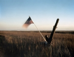 American flag over the marsh on Tybee Island, Ga 2014