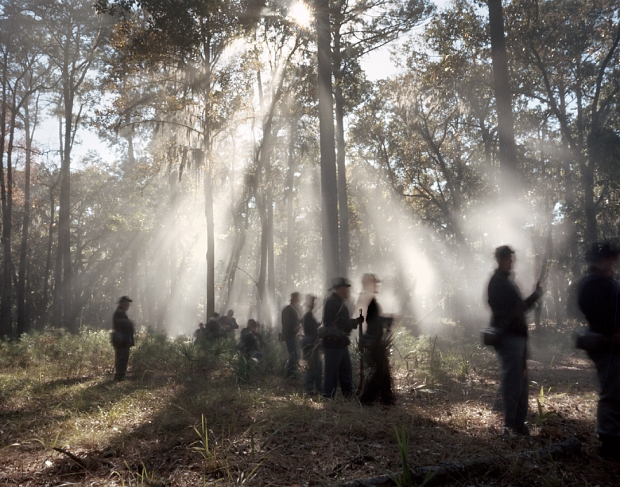 Reenactors skirmish outside Fort McAllister