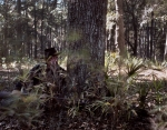 Union reenactor takes cover at Fort McAllister