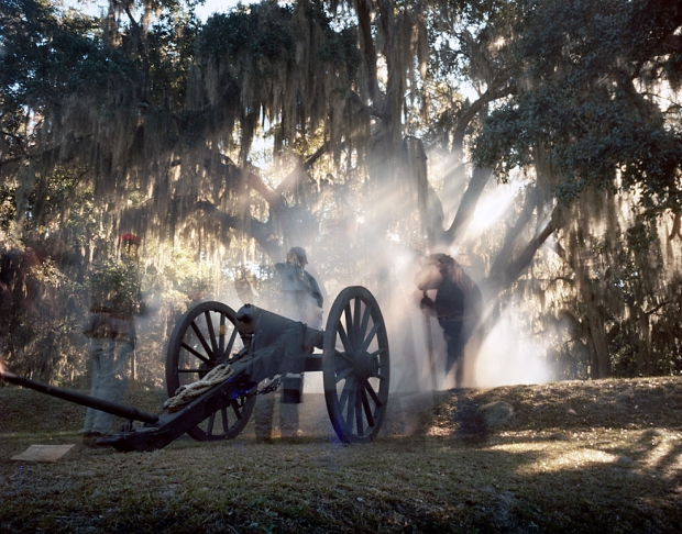 Confederates defend Fort McAllister during the 150th anniversary of the Battle for Savannah