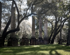 The ruins of Confederate Wade Hampton's home in Columbia, SC