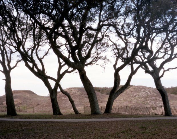 The earthen walls of Fort Fisher in Wilmington, NC