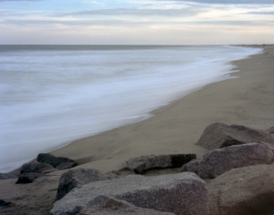 in 1865 the Union Navy filled the sea here opposite Fort Fisher