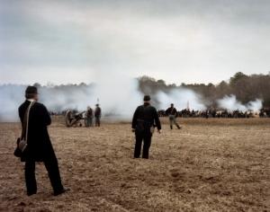 Union reenactors open fire at Bentonville, NC