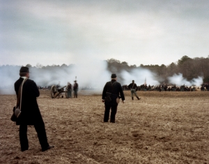 Union reenactors open fire at Bentonville, NC