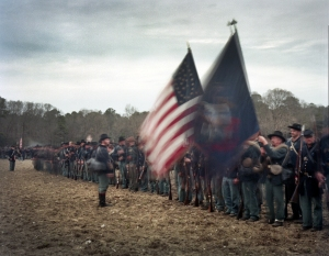 Union reenactors at Bentonville, North Carolina