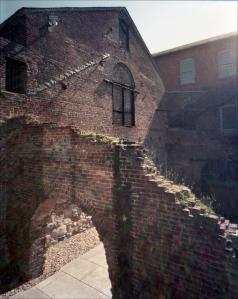The ruins of Tredegar Iron Works in Richmond, Va