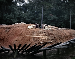 Reconstructed earthen fort at Petersburg National Battlefield - 2014
