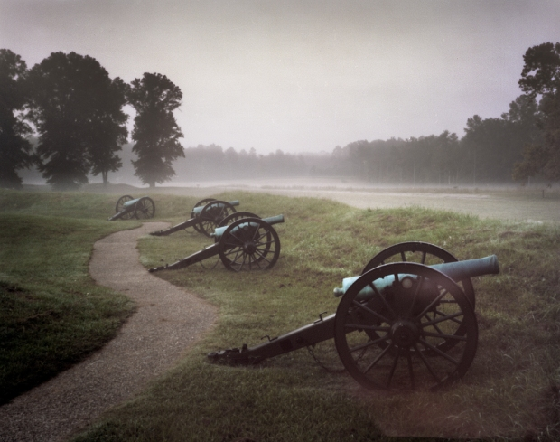 Union guns at Fort Stedman look over the Petersburg killing fields of 1864-65